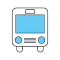 Bus transport isolated icon
