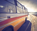 Bus trip Royalty Free Stock Images
