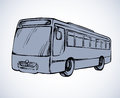 Bus. Vector drawing Royalty Free Stock Photo