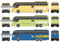 Bus vector tour for long distance transportation Stock Photos