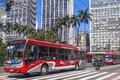 Bus in viaduct sao paulo brazil february viaduto do cha tea is a famous located the center of the city of sao paulo Royalty Free Stock Image