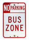 Bus Zone Royalty Free Stock Photo