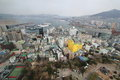 Busan city downtown cityscape of south korea Stock Photos