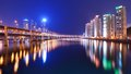 Busan cityscape residentia high rises in south korea Stock Photo