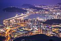 Busan south korea aerial view at night Stock Image