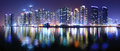 Busan south korea cityscape panorama of haeundae district in Royalty Free Stock Photo
