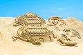 Busan south korea june sand sculptures at the busan sand festival on in Royalty Free Stock Photos