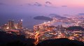 Busan south korea skyline of at the haeundae district the city is the second largest in the country Stock Photography