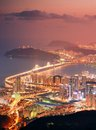 Busan south korea skyline of at night Stock Images