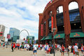 Busch Stadium and The Arch Royalty Free Stock Photo