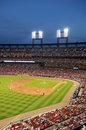 Busch Stadium at Night Royalty Free Stock Photo