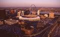 Busch Stadium, St. Louis, MO. Royalty Free Stock Photo