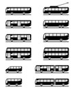 Buses and coaches Stock Photography