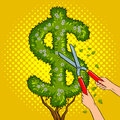 Bush in the form of dollar sign pop art vector