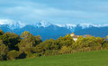 Bush house with all around it and with a great view of tararua ranges new zealand Royalty Free Stock Image