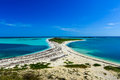 Bush key in the dry tortugas national park as seen from fort jefferson Stock Image