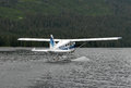 A bush plane performs taxi in in Alaska. Royalty Free Stock Photo