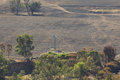 Bushfire aftermath a photograph of the of a on a dry australian farm in central western nsw it was taken from on top of a nearby Royalty Free Stock Photography