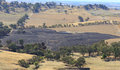 Bushfire aftermath a photograph of the of a on a dry australian farm in central western nsw it was taken from on top of a nearby Stock Image