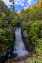 Bushkill waterfall a at spring time in poconos pa Stock Photo