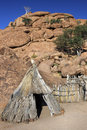 Bushman dwelling - Damaraland - Namibia Royalty Free Stock Photos
