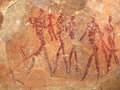 Bushmen rock painting Stock Images