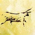 Bushmen San Rock Painting Of B...
