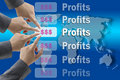 Busines profits Royalty Free Stock Images