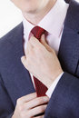 Businesman hands tie up Royalty Free Stock Photos