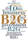 Business abbreviation. Word cloud illustration.
