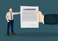 Business Agreement Cartoon Vector Illustration Royalty Free Stock Photo
