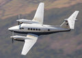Business aircraft in flight executive vip beechcraft king air Royalty Free Stock Photography
