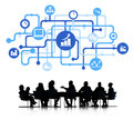 Business analyst group with business concept Stock Image