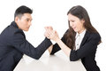 Business arm wrestling Royalty Free Stock Photo