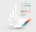 Business arrows infographics template. Can be used for workflow