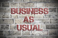 Business as usual Royalty Free Stock Photo