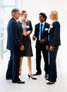 Business associates having a discussion Stock Image