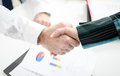 Business associates shaking hands in office Royalty Free Stock Photography