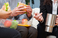Business break for lunch Royalty Free Stock Photo
