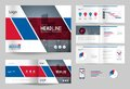 Business brochure design template and page layout for company profile, annual report,