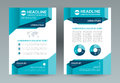 Business brochure layout template. A4 size. Front and back page