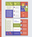 Business brochure template with with flowers icons and plants.