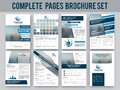 Business brochure, template or flyer set.