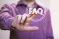 Business button FAQ web icon computer Royalty Free Stock Photo