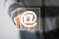 Business button web message mail sending sign Stock Image