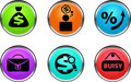 Business buttons. Stock Images