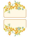 Business card classic color ornamental floral Royalty Free Stock Photography