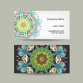 Business card design ornate background vector illustration Royalty Free Stock Photos