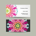 Business card design ornate background vector illustration Stock Photography