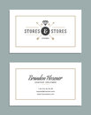 Business Card Design and Retro Logo Template. Vector Design Element Vintage Style for Logotype Royalty Free Stock Photo